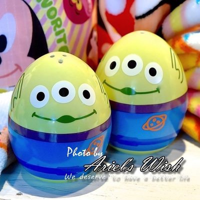 Ariels Wish-日本Tokyo東京迪士尼春季巡航復活節彩蛋-玩具總動員三眼怪立體蛋型胡椒粉罐鹽罐-兩入一組現貨