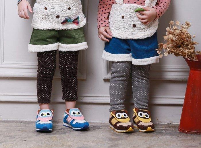 【RG3122434】秋冬款~後星星動物口袋加絨假兩件褲(藍/綠)(中大童)$99