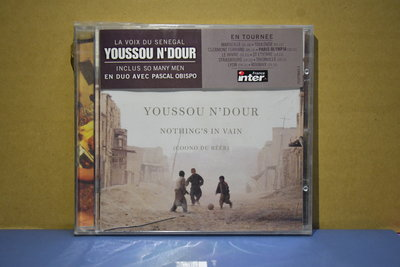 Youssou N'Dour ---Nothing's In Vain (全新未拆封CD 德國版)