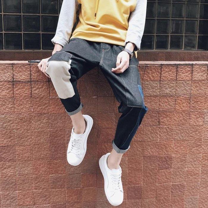 牛仔褲春季新款男生牛仔褲寬鬆正韓直筒褲潮流學生帥氣百搭小腳褲子