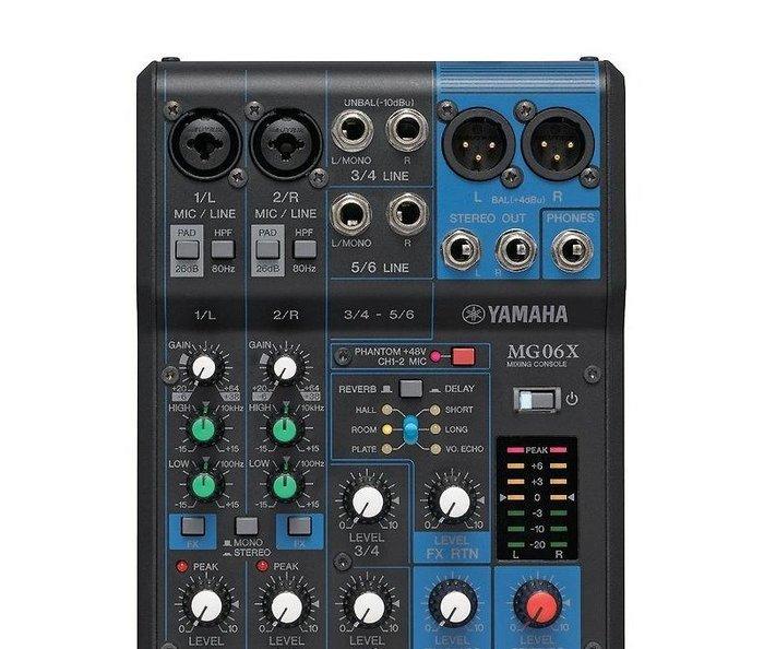 山葉 YAMAHA MG06X 6軌混音機 內建SPX效果
