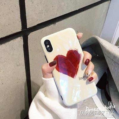 ins網紅同款6s手機殼蘋果X軟殼iphone7/8plus少女款涂鴉愛心DBX