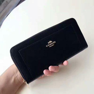 美國正品代購 COACH 52648 長夾 錢包 手拿包 拉鏈長夾 皮夾 多卡位