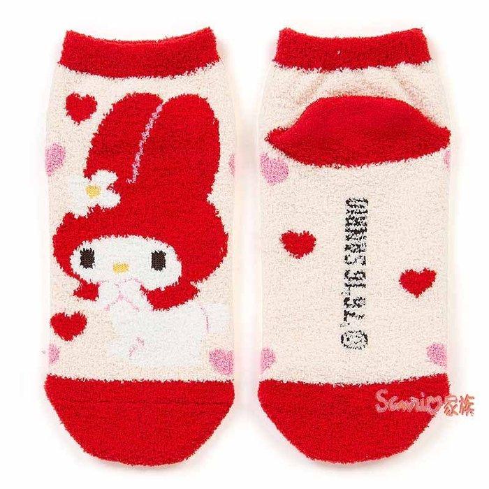 東京家族》現貨日本三麗鷗 melody美樂蒂 愛心紅色 韓版短毛襪子