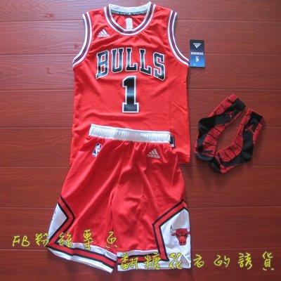 美國NBA 官網正品 adidas兒童 青年套裝  德瑞克·羅斯 Derrick Rose 公牛隊