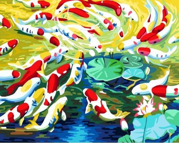 八號倉庫 DIY手繪風景人物花卉數字油畫 40x50【1T112X670】76下標區