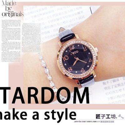 女錶 KEZZI 低調奢華環繞鑲鑽 晶...