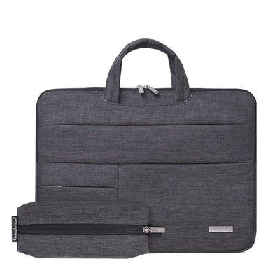 手提包帆布電腦包-多重收納防潑水薄款男女包包2色73vy5[獨家進口][米蘭精品]