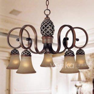 {美學}歐式復古仿古典吊燈做舊 地中海...