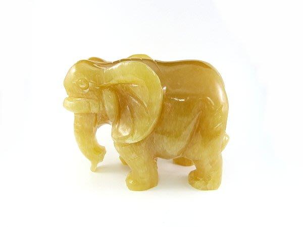 ☆寶峻晶石館☆新貨到~吉祥黃玉大象 旺貴人 吸財象 祥和之氣