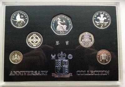 【鑒 寶】(世界各國錢幣)英國1996年全銀盒裝精製銀幣7枚全套 WGQ4679