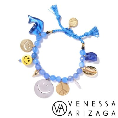 Venessa Arizaga BLUE HAWAIIAN 笑臉藍色手鍊
