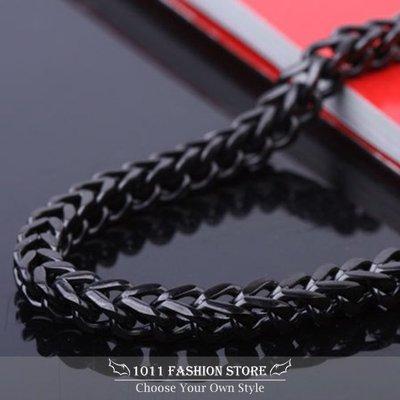 韓國 男性 / 女性 西德鋼 / 鈦鋼 不鏽鋼 個性黑 項鍊 不鏽鋼項鍊 A8F7A 另有銀色