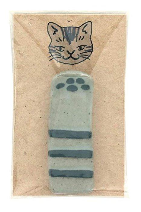 《散步生活雜貨-廚房散步系列》日本製 IZAWA - 日式手感風格 陶製 貓掌 筷架-兩色選擇
