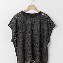 902001 2019夏季新款出口日本螺紋領蕾絲衫