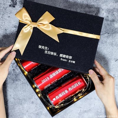 ☆米爾衣飾☆ 可樂定制易拉罐實用父親節畢業禮物表白生日禮物女刻字送男友老公ML389ML389