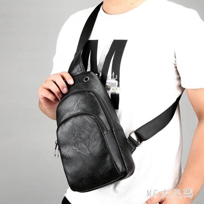 胸包男背包男包單肩包挎包皮質韓版潮休閒時尚男士包包單肩斜挎包 qf36351--凡卡