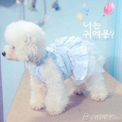 日和生活館 泰迪狗狗衣服夏裝薄款公主蕾絲狗裙子貓咪寵物用品IGOS686