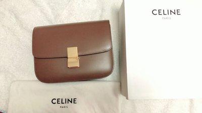 Celine classic box 中款 焦糖 棕色