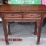 小o結緣館仿古傢俱.......二抽方腳案桌'書桌...
