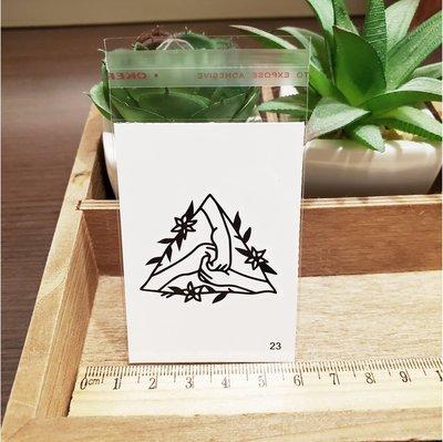 【萌古屋】百態人23單圖 - 男女防水紋身貼紙刺青貼紙 K43