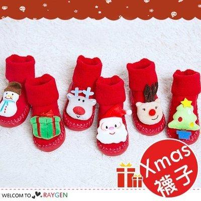 八號倉庫  聖誕樹雪人立體造型聖誕襪 寶寶襪 地板鞋【2F194G743】