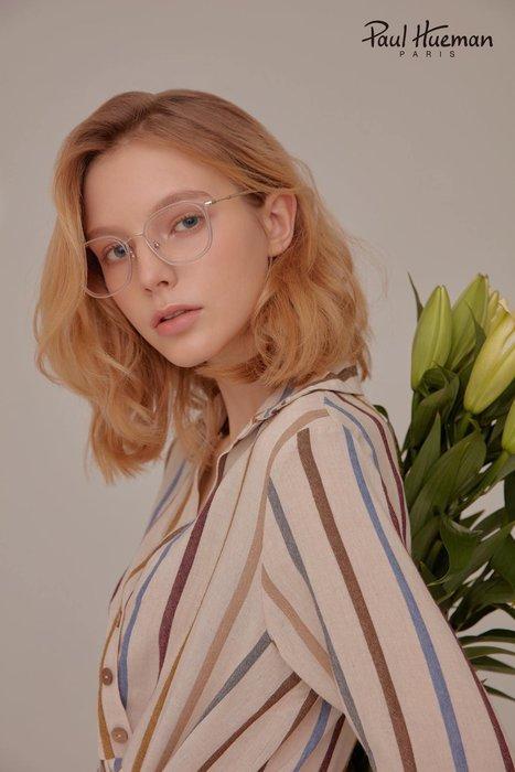Paul Hueman 韓國熱銷品牌 透明-金色方框金屬眼鏡 英倫街頭百搭時尚 PHF5146A 5146 優雅氣質