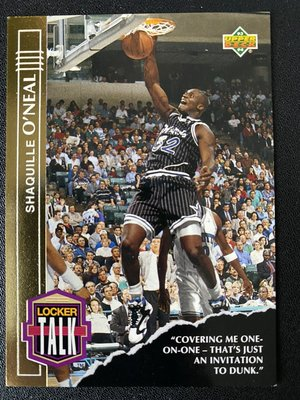 Shaquille O'Neal 1993-94 Upper Deck Locker Talk #LT3