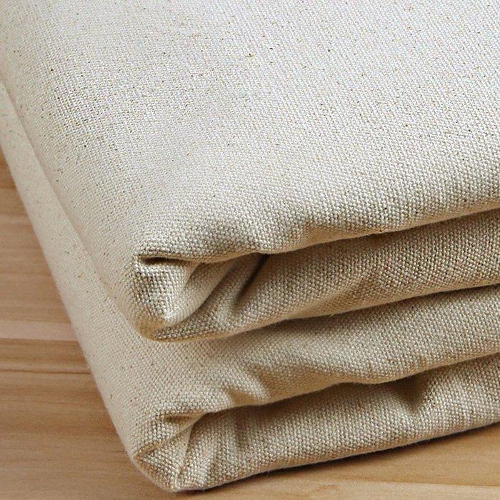 爆款--帆布布料 純棉全棉胚加厚棉布粗帆布白布床單土布桌布 老粗布布料#布料#綢緞#冰絲#絨布