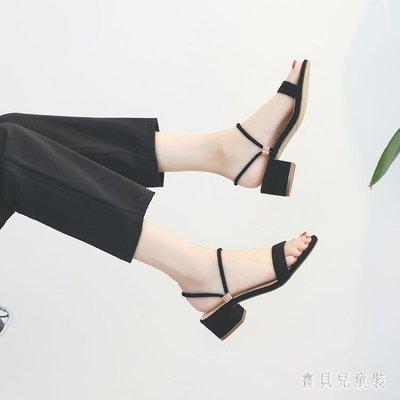 【全新品】2019夏季新款百搭中跟粗跟...