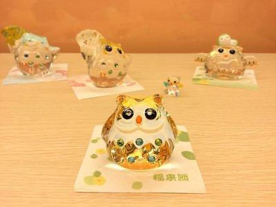 日本彩色點點貓頭鷹琉璃擺飾,附有盒裝送禮超方便🌟最特別的禮物都在奧爾思🌟