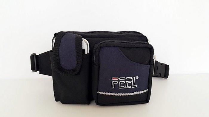 【YOGSBEAR】 台灣製造 A  手機袋 手機包 運動腰包 休閒腰包 防扒腰包 外出包 錢包(D-46)深藍色