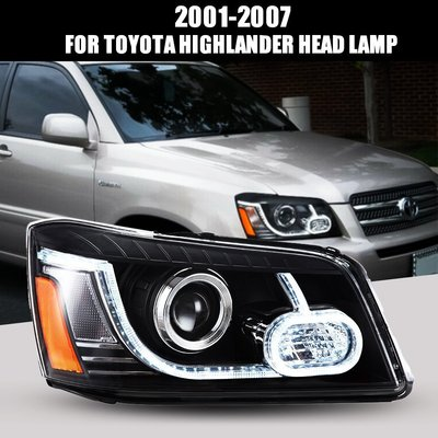 跨境汽車改裝車燈適用于豐田漢蘭達2001-2007 LED前大燈總成 雲上仙