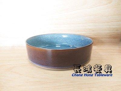 """*~長鴻餐具~*藍 7.5""""切立皿 彩釉 07800486 現貨+預購"""