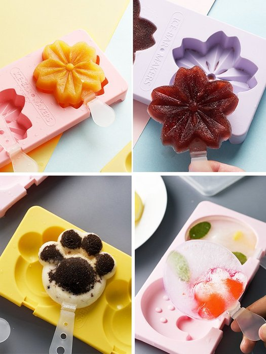 塑料雪糕模具帶蓋自制DIY棒冰冰塊盒可愛兒童冰淇淋冰棒冰模神都偏愛規格不同價格不同