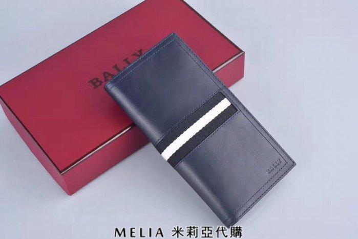 Melia 米莉亞代購 bally 貝利 2108新款 春季新品 真皮 牛皮 長夾 經典款 父親節送禮首選 藍色