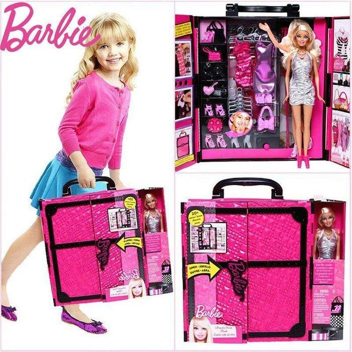 【好孩子福利社】芭比娃娃 夢幻衣櫥套裝 大禮盒 衣櫃套裝 女孩玩具禮物 家家酒玩具