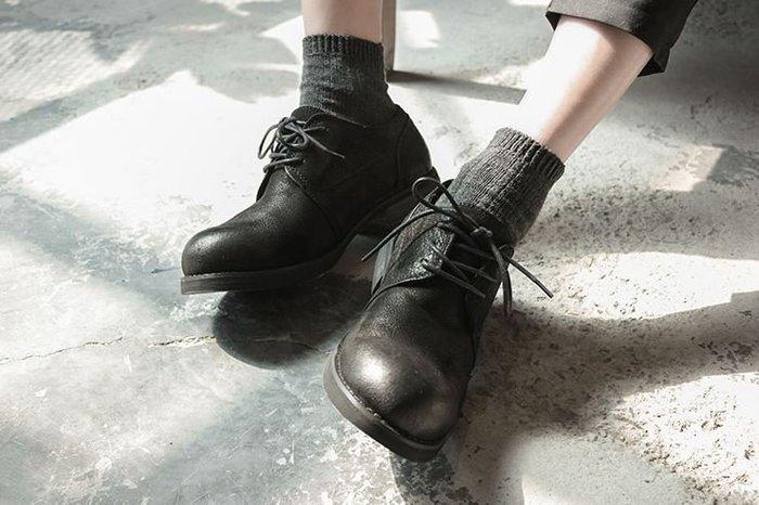 【NoComment】英倫紳士 質感簡約 做舊真皮大頭皮鞋 ZARA Izzue