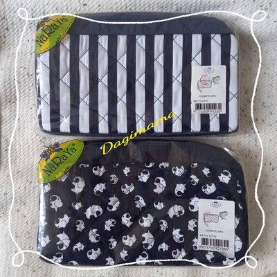 【泰國直送新款】全新@NaRaYa菱格紋雙層手提化妝包/錢包/萬用包~手提帶可以拆卸