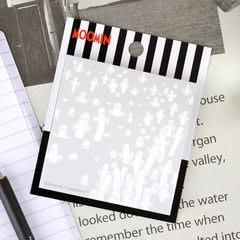 尼德斯Nydus~* 日本限定 日版 Moomin 嚕嚕米家族 嚕嚕米 精靈 可黏式 便條紙 60張 淺灰
