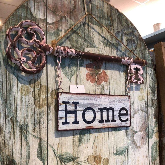 《齊洛瓦鄉村風雜貨》復古仿舊鑰匙HOME掛飾 掛牌 居家裝飾