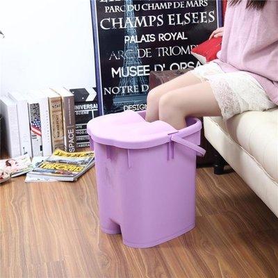 洗腳桶 帶蓋加高加厚足浴桶 按摩保溫泡...
