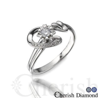 【Cherish Diamond】-情詩-八心八箭完美車工天然10分美鑽戒指