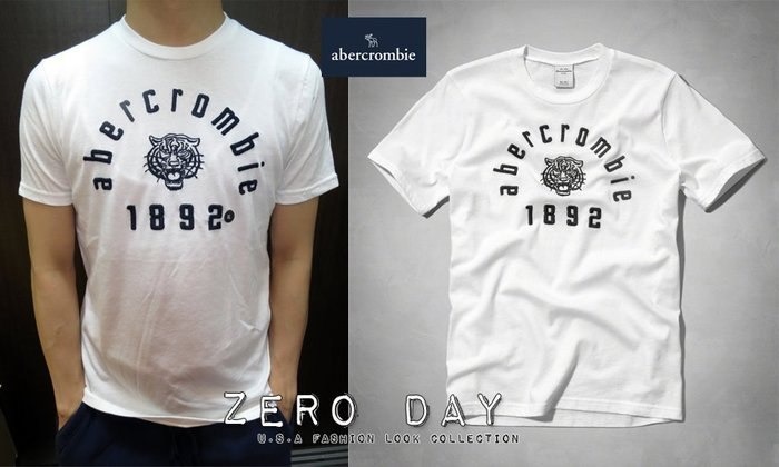 a&f abercrombie&fitch kids guys heritage logo graphic tee動物T