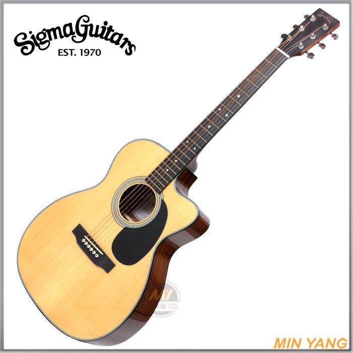 【民揚樂器】 民謠吉他 SIGMA 000MC-1STE 面單木吉他 附EQ