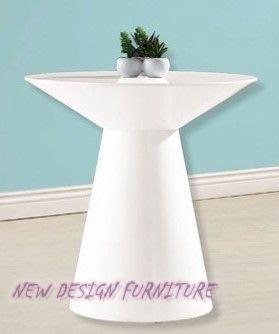 【N D Furniture】台南在地家具-俠客造型款MDF白色小圓几/小茶几/邊几YQ