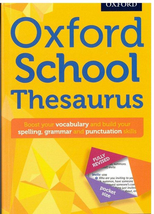 *小貝比的家*OXFORD SCHOOL THESAURUS/平裝/7~12歲/ 學習字典