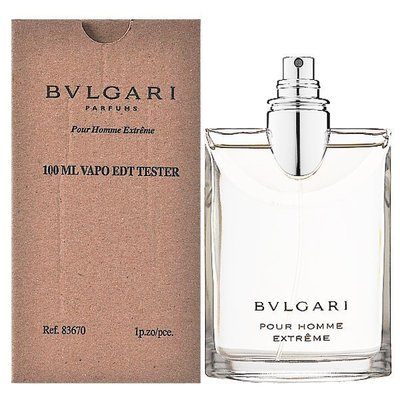 【美妝行】Bvlgari Pour Homme Extreme 寶格麗 大吉嶺 極緻 男性淡香水100ML TESTER