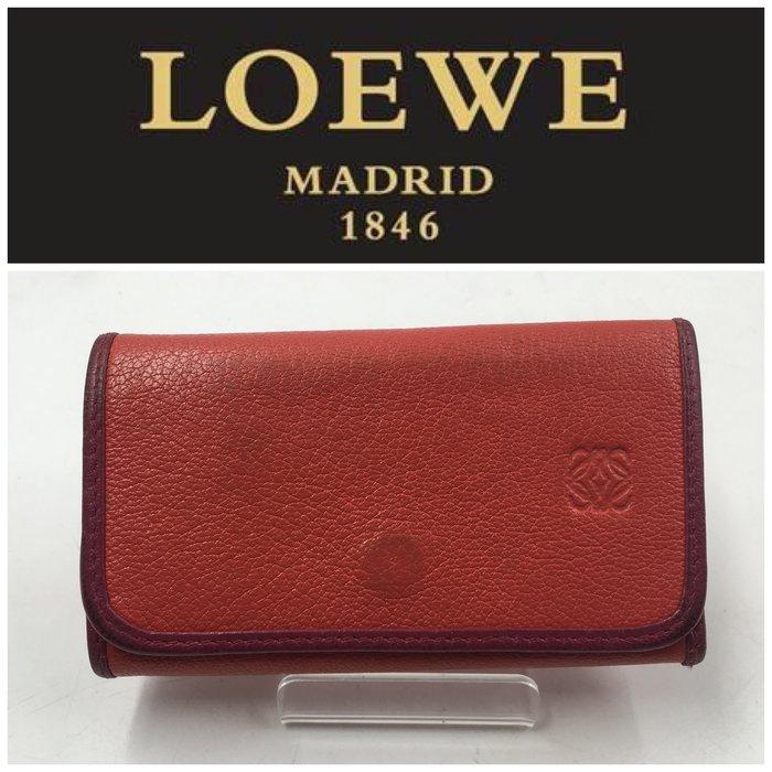 【皮老闆二店】二手真品 Loewe 鑰匙包 L249