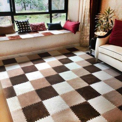 絨面拼接地毯臥室滿鋪可愛床邊地板方塊客廳拼圖EVA泡沫地墊WY